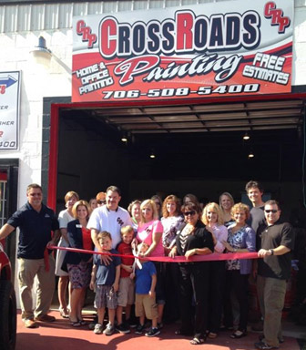 Pickens County Chamber Recognizes Crossroads Painting with a Ribbon Cutting