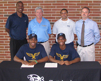 Men's basketball players Hopkins, Pierce sign LOI with Point University