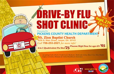 Get your Flu Shot TO GO at DRIVE-BY in Jasper