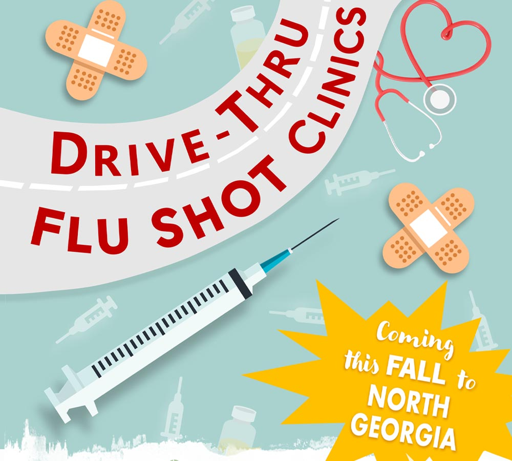 Drive Through and Arm Against the Flu in North Georgia