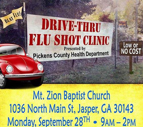Drive-thru Flu Shot Clinic in Jasper
