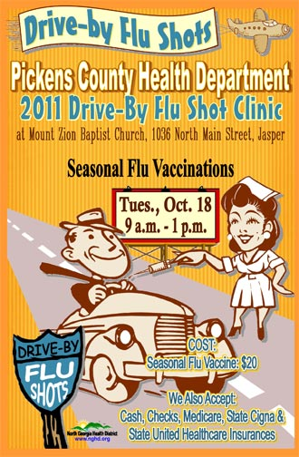 Pickens County Health Department 2011 Drive-by Flu Shot Clinic