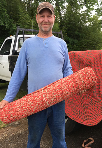 Randy Beavers' hand-crafted rugs