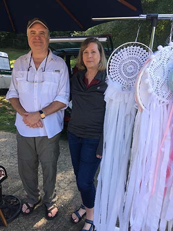 Wonderful new look for dream catchers made by Robecca VanDoran wife of Orea our long time friend the flute maker
