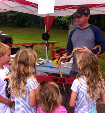 Snake Education at Last Saturday's Jasper Farmers Market