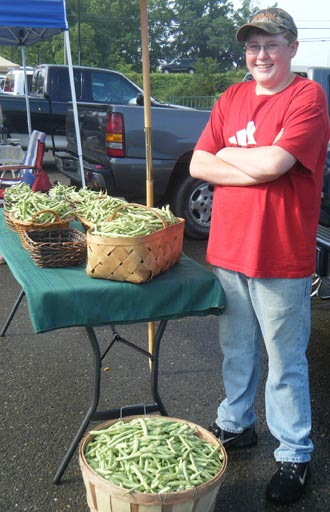 Bushels of Beans at the Jasper Farmers Market