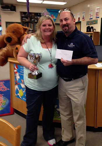 Jaime Watson is Farmers Insurance-Rob Hoffauer Agency Teacher of the Quarter
