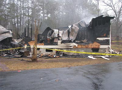 Red Cross helped eleven left homeless by December 15th mobile home fire…