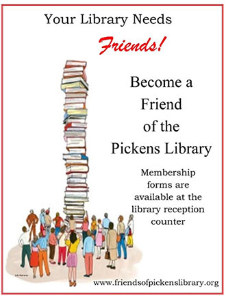 Become a Friend of the Pickens Library