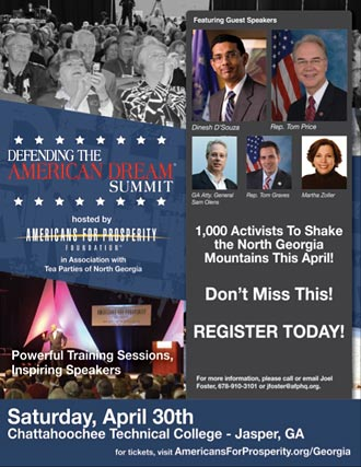 Dinesh D'Souza, Congressmen Tom Price, Tom Graves, Others Set To Speak At Huge Georgia Summit In Mountains