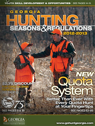 NEW GEORGIA HUNTING SEASONS & REGULATIONS GUIDE AVAILABLE