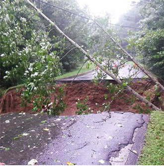 Conditions in Pickens County from Flooding