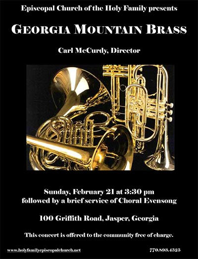 Georgia Mountain Brass Quintet in Concert at Holy Family