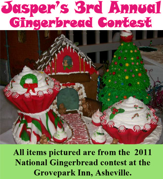 Jasper's 3rd Annual Gingerbread Contest is on the Horizon