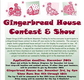 Gingerbread House Contest - Application Deadline November 20th