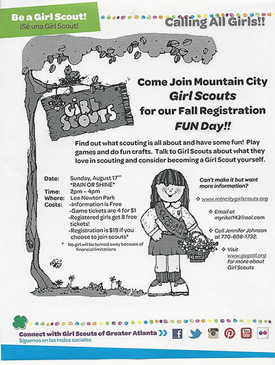 Mark Your Calendar for Girl Scouts Fall Registration Day!