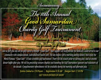 Register Now for the Good Samaritan Charity Golf Tournament