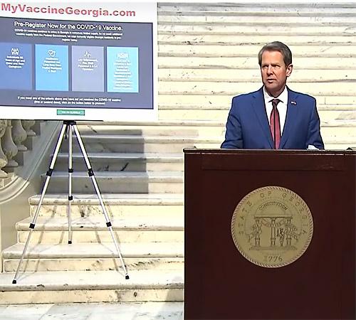 Gov. Kemp Announces Expanded Criteria for COVID-19 Vaccine