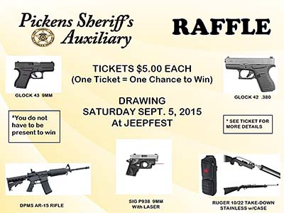 Gun Raffle to Benefit PCSO Auxiliary Unit's Programs