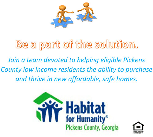 Habitat for Humanity Pickens County Needs Volunteers