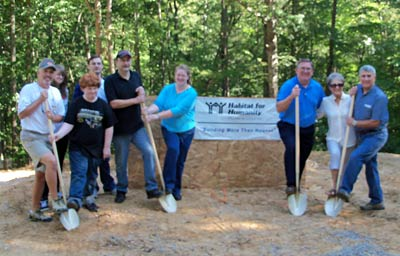 Habitat for Humanity Pickens County held a ground breaking ceremony for its 12th home located on Gennett Court.