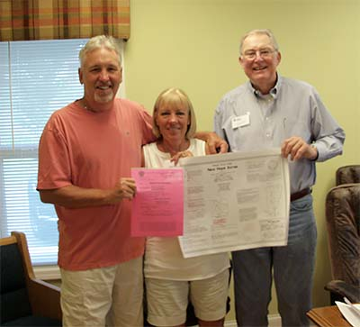 First Building Permit for Pickens Habitat for Humanity's New Hope Acres