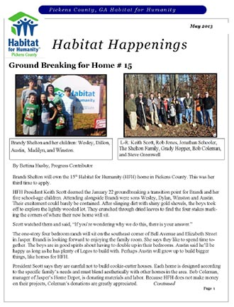 Habitat Happenings - May 2-13