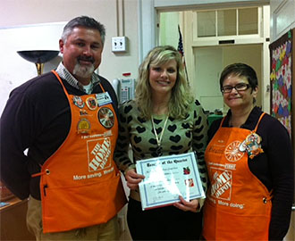 The Home Depot in Jasper Honors Three More Teachers of the Quarter during Teacher Appreciation Week