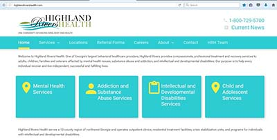 Highland Rivers Health Launches New Website