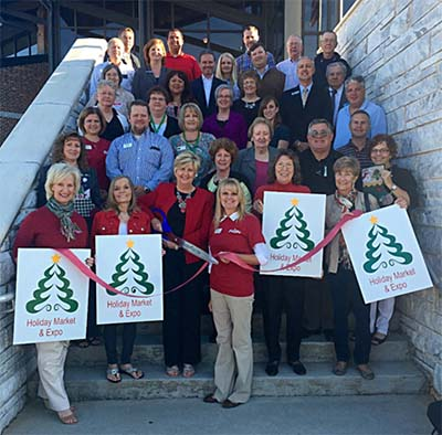 Pickens Chamber Recognizes Holiday Market & Expo with a Ribbon Cutting Ceremony
