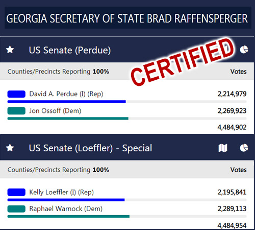 Secretary of State's Office Certifies Runoff Election Results