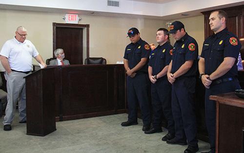 Jasper Fire Department Shift B recognized for bravery.