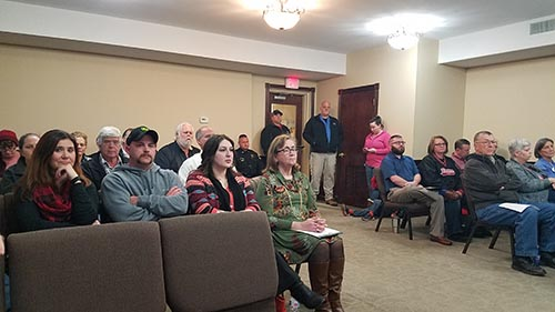 Standing room only during the decision to appoint Jim Looney Jasper City Manager.  Public input was allowed during the discussion.