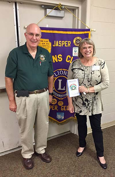 Pickens Ferst Foundation for Childhood Literacy Attends Jasper Lions Club