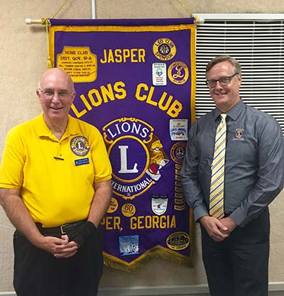President of Oldest Lions Club in Georgia Speaks to Jasper Lions