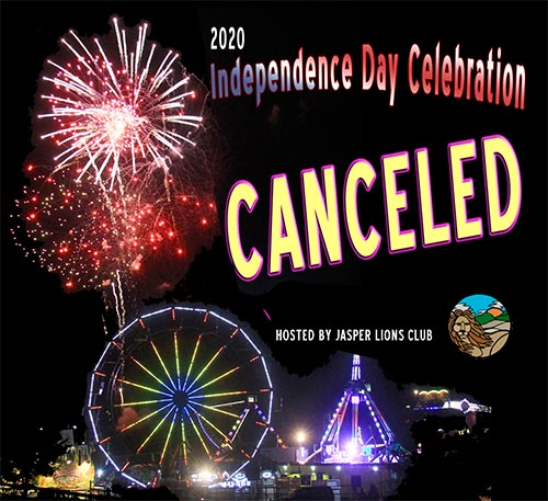 Jasper Lions Club Independence Day Celebration CANCELED