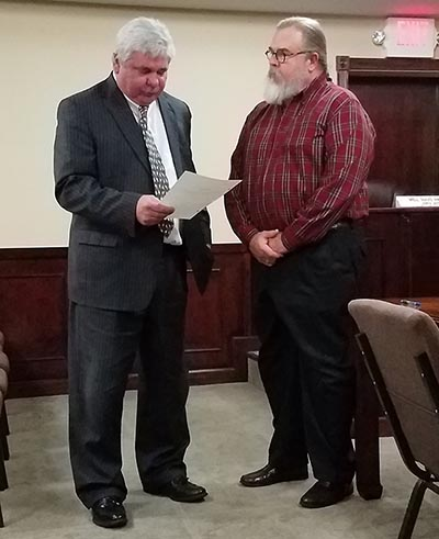 Swearing in of Dr. Sonny Proctor for Jasper City Council