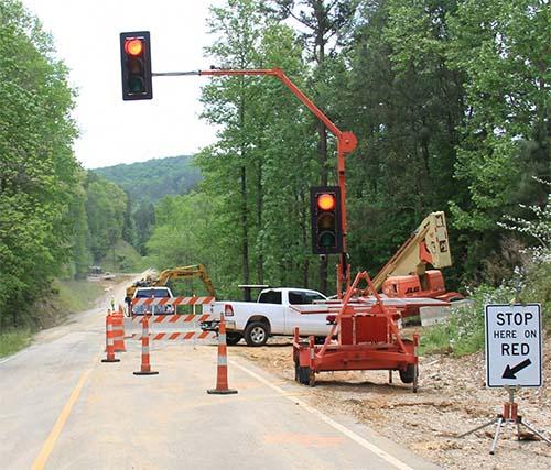 One Lane Open on Jones Mountain Road