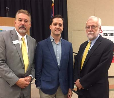 Gerry Nechvatal, Jason O'Rouke, and Dr. Ron Newcomb