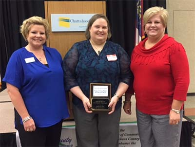 Community Bank of Pickens County with recipient of Small Business of the Month - Nancy Cochran Maddox Attorney at Law, P.C
