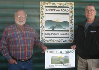 Bart Connelly Joins Keep Pickens Beautiful Adopt-A-Road