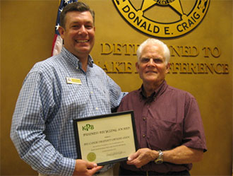 Keep Pickens Beautiful Presents award to Big Canoe