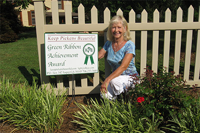 Peggy Petty Awarded July's KPB Green Thumb Award