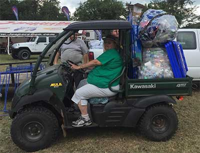 KPB Collects 22 Bags of Plastic Bottles and Cans from Jeepfest