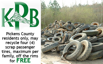 Tire Amnesty During the Month of April For Pickens County Residents