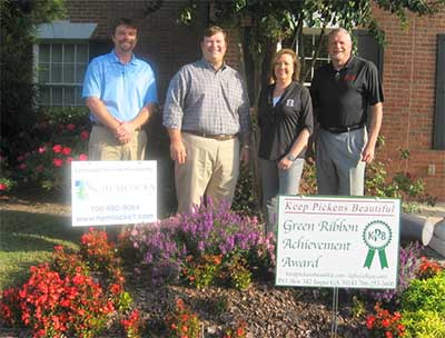 October KPB Green Ribbon Award goes to Community Bank of Pickens County