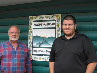 AJ and Kelly Proudfoot Joined Keep Pickens Beautiful Adopt A Road Program