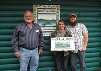 Katie and Joshua Gibson Have Volunteered for KPB's Adopt A Road Program