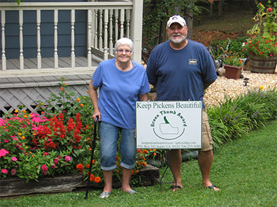 KPB August Green Thumb Award to The Fox Family