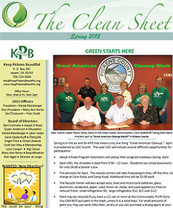 Keep Pickens Beautiful Spring Newsletter 2015